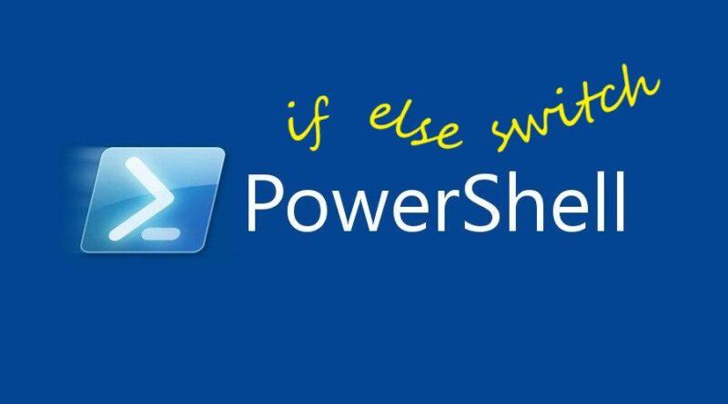 Операторы условий Powershell