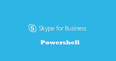Skype fro Business Powershell